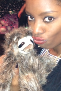 Couldn't kiss the really cute sloth sitting in the tree but I found a buddy at the gift shop